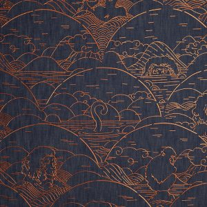 Mooi Wallcovering Tokyo Blue Indigo Macaque MO3000