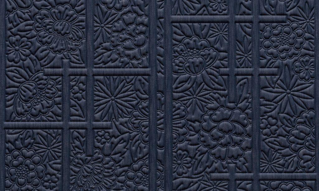 Moooi Wallcovering Tokyo Blue Shoji Blossom MO3030 - Denim