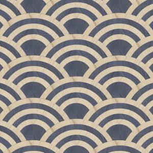 Moooi Wallcovering Tokyo Blue Lucky O's MO3043 - Birch & Blue