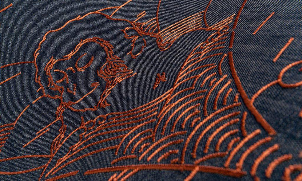 Moooi Wallcovering Tokyo Blue Indigo Macaque MO3000 Product Image