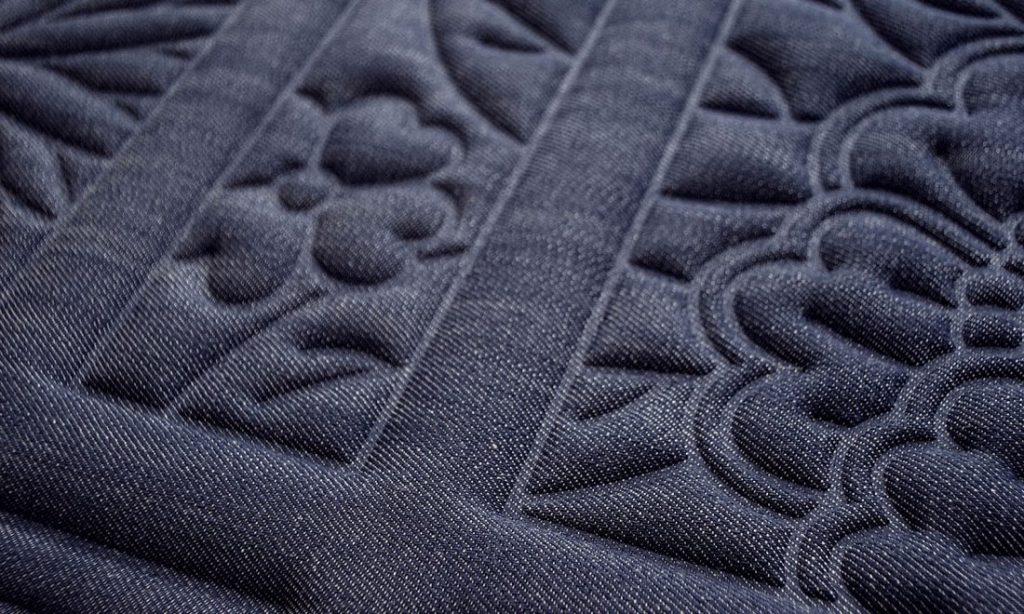 Moooi Wallcovering Tokyo Blue Shoji Blossom MO3030 - Denim Product Image